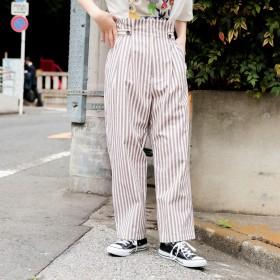パンツ・ズボン全般 - kutir 【kutir】ウエストベルトチェックパンツ
