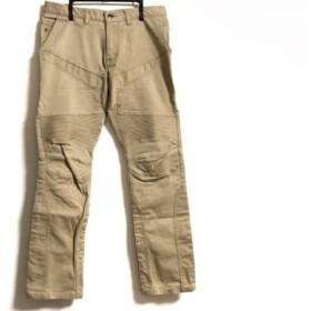 【中古】 エポカ EPOCA パンツ サイズ46 XL メンズ ベージュ UOMO/一部合皮