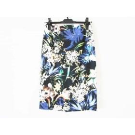 【中古】 ピンキー&ダイアン Pinky & Dianne スカート サイズ38 M レディース 美品 黒 マルチ 花柄