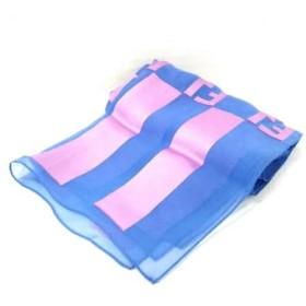 【中古】 フェンディ FENDI ストール(ショール) 美品 ズッカ柄 ライトブルー ピンク foulard/シースルー