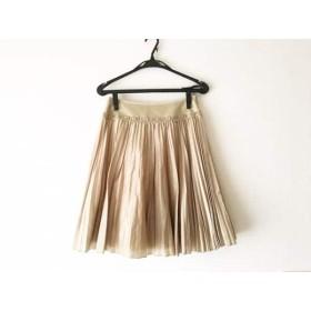 【中古】 ロイスクレヨン Lois CRAYON スカート サイズM レディース 美品 ベージュ プリーツ/刺繍