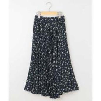 [100-130]フラワープリントプリーツスカート[WEB限定サイズ]【お取り寄せ商品】