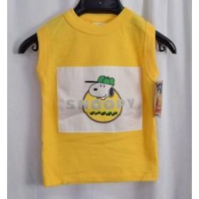 【中古品】Snoopy Buster Brown スヌーピー タンクトップ イエロー ジュニア キッズ 身幅約26cm×着丈約37cm