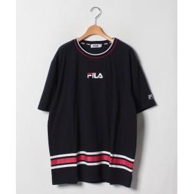 【20%OFF】 マルカワ 大きいサイズ メンズ フィラ 半袖 Tシャツ ブランド メンズ ネイビー 4L 【MARUKAWA】 【タイムセール開催中】