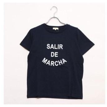 アースミュージックアンドエコロジー earth music&ecology outlet SALIR DE MARCHAプリントTシャツ (ネイビー)