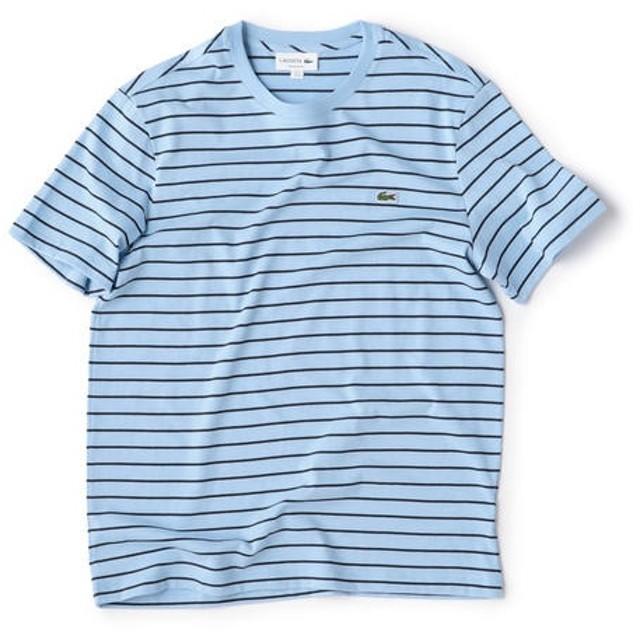 [マルイ]【セール】LACOSTE: クルーネック チョークボーダー Tシャツ【TH4244L】/シップス(メンズ)(SHIPS)