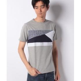 イッカ ニット切り替えクルーネックTシャツ メンズ ミディアムグレー M 【ikka】