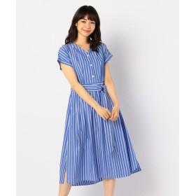 ノーリーズ ストライプシャツワンピース レディース ブルー系4 36 【NOLLEY'S】