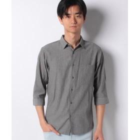 ジーンズメイト キョウネンコットン7ブシャツ メンズ グレー M 【JEANS MATE】