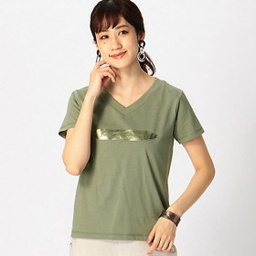 COMME CA ISM 箔プリント Tシャツ 1264CL05