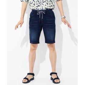 BACK NUMBER 「タテヨコ伸びる」デニムショートパンツ メンズ 濃加工色