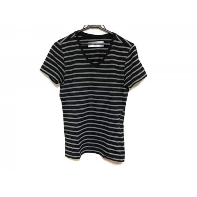 【中古】 エーケーエム AKM 半袖Tシャツ サイズS メンズ 黒 グレー ボーダー