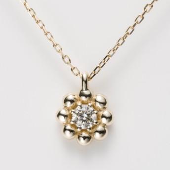K10YG ドーナッツ ポンデリング Diamond Pendant 40.0cm Dia 0.10ct