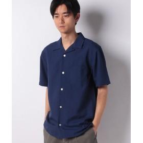 【49%OFF】 ジョルダーノ [GIORDANO]オープンカラー半袖シャツ メンズ ネイビー L 【GIORDANO】 【セール開催中】