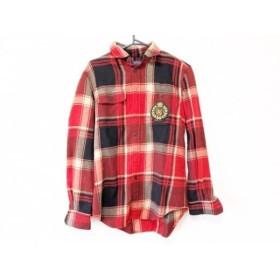 【中古】 ポロラルフローレン 長袖シャツ サイズXS メンズ レッド ベージュ 黒 チェック柄