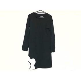 【中古】 マリークワント MARY QUANT ワンピース サイズM レディース 黒 白 フラワー