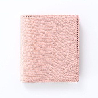 トプカピ TOPKAPI イタリアンレザー・リザード型押し二つ折りミニ財布 LUCIA[ルチア] (ピンクグレー)