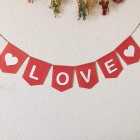 LOVE ピンク 桃色 ガーランド 壁飾り誕生日会 バースデー 結婚式