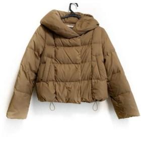 【中古】 シップス SHIPS ダウンジャケット サイズS レディース ライトブラウン 冬物