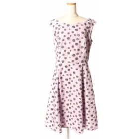 【中古】トッカ TOCCA 17SS SMALL FLOWER PARTY ドレス ワンピース ロング 花柄 刺繍 ノースリーブ 2 /hk0420 レディース