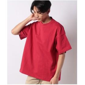 WEGO WEGO/ヘビースラブビッグTシャツ(レッド)【返品不可商品】