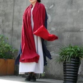 2018女性の新しい綿のスカーフ愛好長い特大無地ファッションスカーフ