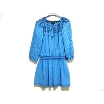 【中古】 ビーシービージーマックスアズリア ワンピース レディース ブルー ダークネイビー 刺繍