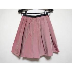 【中古】 ジャスグリッティー JUSGLITTY スカート サイズ0 XS レディース ピンク 黒