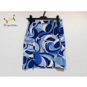 キャロウェイ CALLAWAY スカート サイズ2 S レディース 美品 ライトブルー×ブルー×マルチ  値下げ 20190715
