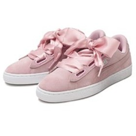 【ABC-MART:シューズ】369232 W SUEDE HEART GALAXY 01PALE PINK/SIL 590183-0001