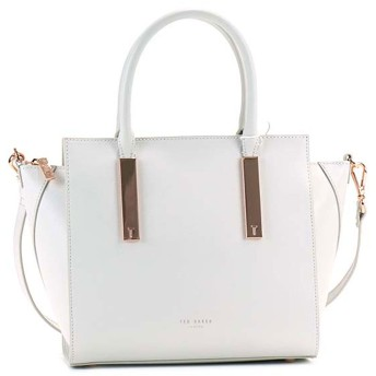 テッドベーカー TED BAKER MINI GRAIN TOTE (LIGHT GREY)