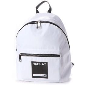 リプレイ REPLAY ナイロンバックパック (ホワイト)