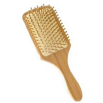 HY-00039ヘアブラシ 木製櫛 美髪ケア 頭皮/肩/顔マッサージコーム 血行促進 薄毛改善
