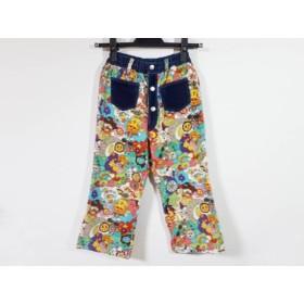 【中古】 ミニK MINI-K パンツ サイズ140 レディース ダークネイビー 白 マルチ 子供服/ベロア