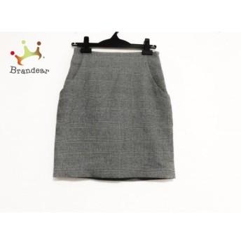 ルシェルブルー LE CIEL BLEU ミニスカート サイズ36 S レディース 美品 アイボリー×黒 スペシャル特価 20190813