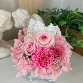 【母の日】プリザーブドフラワー ピンク系 花 ギフト プレゼント