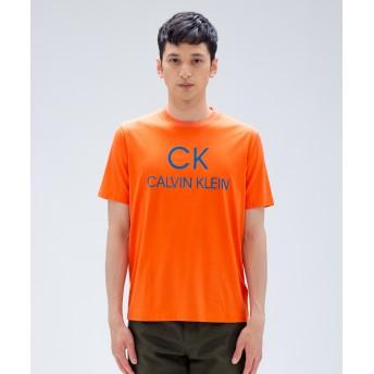【オンワード】 CK CALVIN KLEIN MEN(CK カルバン・クライン メン) 【WEB限定カラー有】フロッキーロゴグラフィック Tシャツ オレンジ L メンズ 【送料無料】