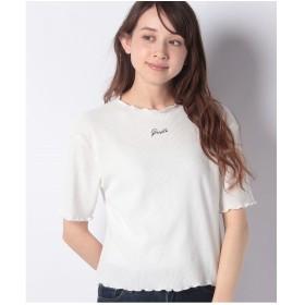 WEGO WEGO/ロゴメロウワッフルTシャツ(ホワイト)【返品不可商品】