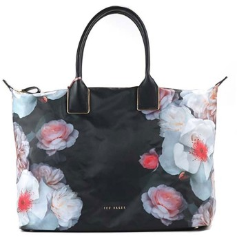 テッドベーカー TED BAKER CHELSEA PRINTED NYLON LARGE TOTE (BLACK)