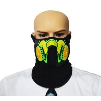 ハロウィンマスク服大きな恐怖マスクコールドライトヘルメット火祭りパーティー光るダンス定常運転席