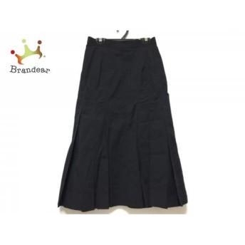ヒロコビス HIROKO BIS ロングスカート サイズ9 M レディース 黒 プリーツ スペシャル特価 20190802