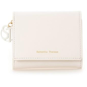 サマンサタバサ STモチーフ 折財布(パステルカラー) オフホワイト