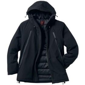 【メンズ】 ファスナー使いデザイン中綿ジャケット。軽くて保温性の高い中空糸中綿が◎ - セシール ■カラー:ブラック ■サイズ:L,3L,5L,M,LL