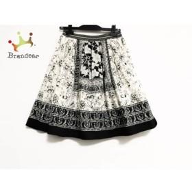ロイスクレヨン Lois CRAYON スカート サイズM レディース 美品 アイボリー×黒 ペイズリー柄   スペシャル特価 20190730