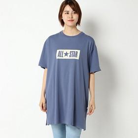 【ぽっちゃりサイズノアンヌ】コンバース抜染プリントチュニック(レディース) ブルー