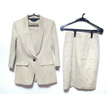 【中古】 クードシャンス スカートスーツ サイズ38 M レディース 美品 アイボリー 肩パッド