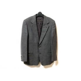 【中古】 ゼニア ジャケット メンズ グレー ダークブラウン マルチ ツイード/肩パッド