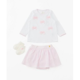 <kate spade new york childrenswear/kate spade new york childrenswear> ボウ トップ スリーピース セット(8583592) シロ 【三越・伊勢丹/公式】