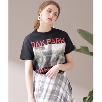 nano・universe FUNG. fungood/OAK PARK Tシャツ(ブラック)【返品不可商品】