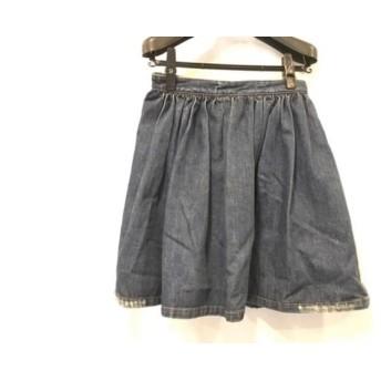 【中古】 ミュウミュウ miumiu スカート サイズ40 M レディース ネイビー デニム